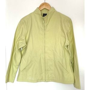Eileen Fisher Lemon Lime Quilted Zip Jacket